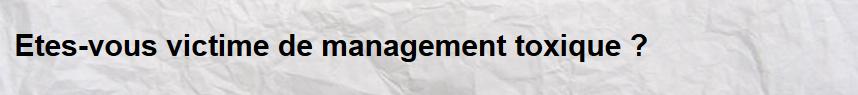 intégrisme management